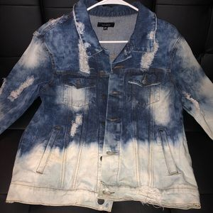 Long customized denim jacket